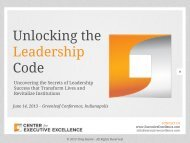 Unlocking the Leadership Code - Greenleaf Center for Servant ...