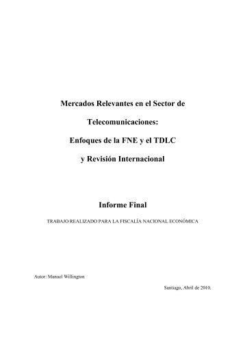 Mercados Relevantes en el Sector de Telecomunicaciones ...