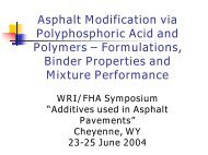 Rutting and Moisture Resistance of Asphalt Mixtures Containing ...