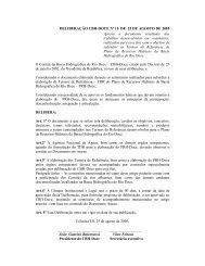 Deliberação n. 015 de 25 de agosto de 2005 - CBH Doce