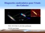 Les diagnostiques moléculaires galactiques appliqués à l ... - Graal