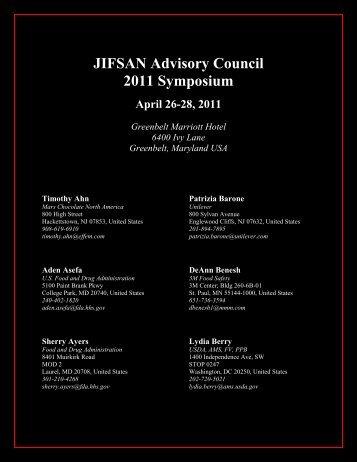 JIFSAN Advisory Council 2011 Symposium - University of Maryland