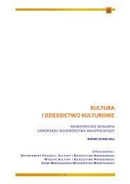 Kultura i Dziedzictwo Kulturowe najważniejsze działania ...