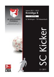 Kreisliga B - SC Böckingen