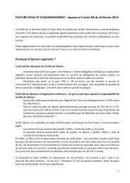 FACTURE D'EAU ET D'ASSAINISSEMENT : réponse à l ... - Chinon