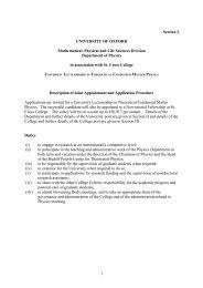 Further Particulars - ULTF [PJD] - Rudolf Peierls Centre for ...