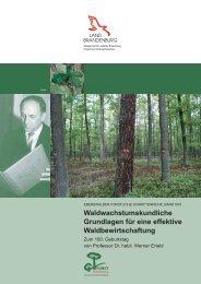 Waldwachstumskundliche Grundlagen für eine effektive ...