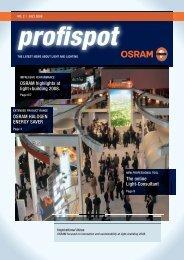 NO. 2   JULY 2008 Profi Spot - Osram