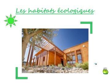 Les habitats écologiques - ecocito
