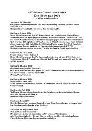 Die News aus 2004 - 1. FC Sulzbach