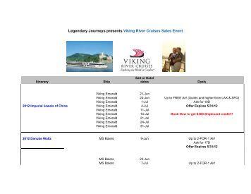 Legendary Journeys presents Viking River Cruises Sales Event