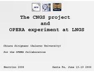 The CNGS project and OPERA experiment at LNGS