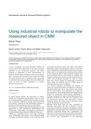Using industrial robots to manipulate the measured object in CMM