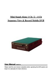 Mini Stand-Alone 1 Ch / 2 ~ 4 Ch Sequence View & Record Mobile ...