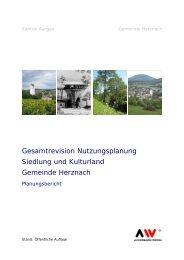 Planungsbericht - Gemeinde Herznach
