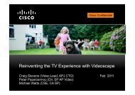 Reinventing the TV Experience with Videoscape - Cisco Knowledge ...