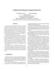 A BitTorrent Performance Evaluation Framework