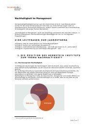 Lesen Sie mehr dazu (Pdf) - Hernstein Institut für Management und ...