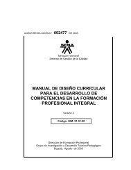 MANUAL DE DISEÑO CURRICULAR PARA EL ... - OIT/Cinterfor