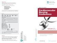 Cardiovascular Nursing Conference - North Shore Medical Center