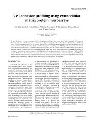 Cell adhesion profiling using extracellular matrix ... - BioTechniques