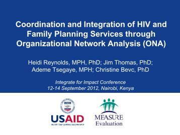 Coordination and Integration of HIV and Family Planning Services ...