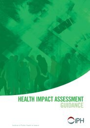 Health Impact Assessment Guidance - Institute of Public Health in ...