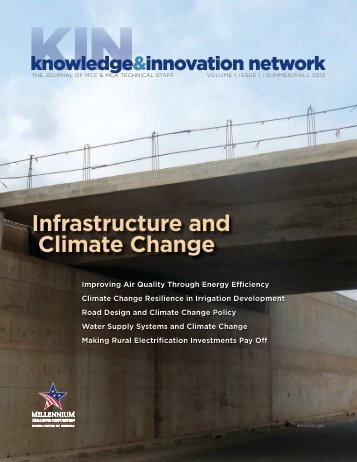 Infrastructure and Climate Change - Millennium Challenge ...