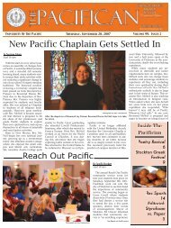 New Pacific Chaplain Gets Settled In - The Pacifican