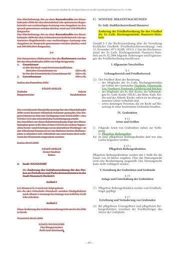 Erweiterung der Friedhofsordnung vom 28.02.2006 als pdf - Ev-luth ...