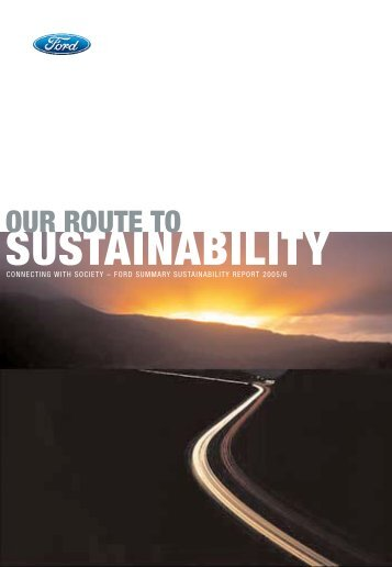 2005/06 Sustainability Report (Print Edition) - Ford Motor Company