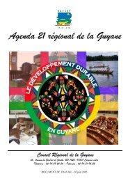 Agenda 21 régional de la Guyane - Région Guyane