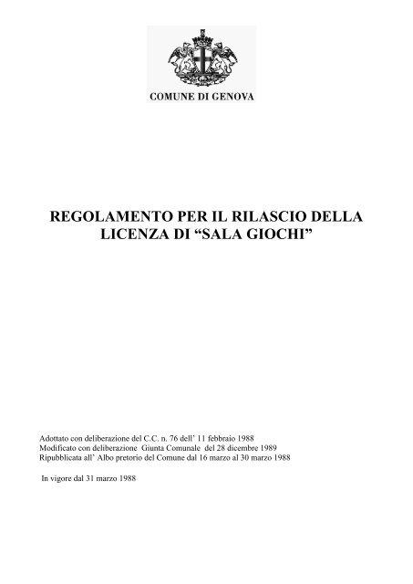 sala giochi - Comune di Genova