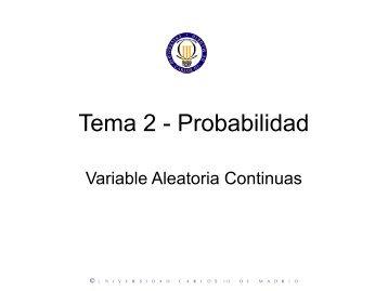 Variables Aleatorias Continuas - GIAA