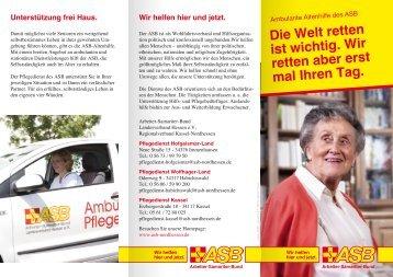 Unser Infoblatt zur Altenpflege / Sozialstation zum Download