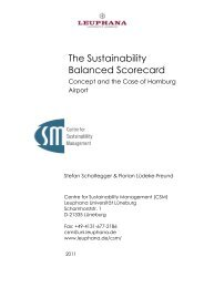 The Sustainability Balanced Scorecard - Leuphana Universität ...