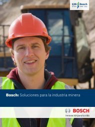 Bosch: Soluciones para la industria minera - Bosch Argentina