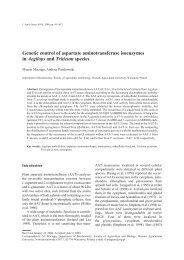 Genetic control of aspartate aminotransferase isoenzymes in ...