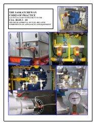 the saskatchewan codes of practice csa- b149.3 - 10 - SaskPower