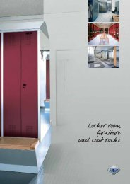 Locker room furniture and coat racks - Modern Office Systems