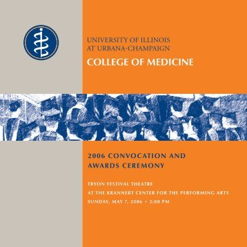 Convocation 2006 - College of Medicine - University of Illinois at ...