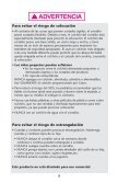 OWNER'S MANUAL MANUAL DEL PROPIETARIO - Page 5