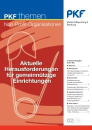 08 Aktuelle Herausforderungen für gemeinnützige ... - PKF