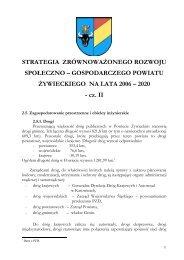 strategia rozwoju społeczno – gospodarczego powiatu żywieckiego