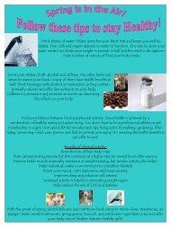 healthy springtime nutrition tips. - CampusDish