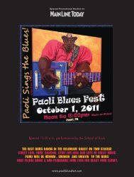 Third Annual Paoli Blues Fest —Saturday, Oct. 1 ... - Main Line Today