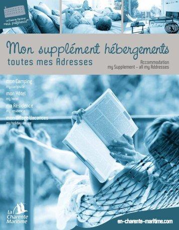 Mon supplément hébergements - Charente Maritime Tourisme