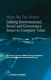 Show Me The Money - UNEP Finance Initiative