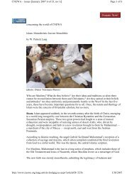 concerning the world of CNEWA Islam: Monotheistic but not ...