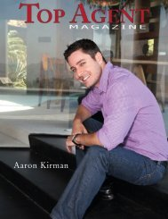 Aaron Kirman - Top Agent Magazine